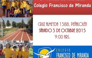 Afiche Torneo Atletismo Octubre 2015